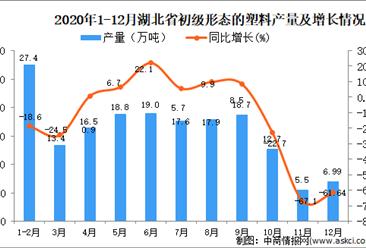 2020年12月湖北省初级形态的塑料产量数据统计分析