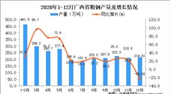 2020年12月广西省粗钢产量数据统计分析 
