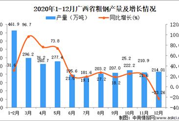 2020年12月广西壮族自治区粗钢产量数据统计分析 