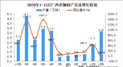 2020年12月广西省铜材产量数据统计分析