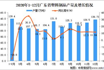 2020年12月广东省塑料制品数据统计分析