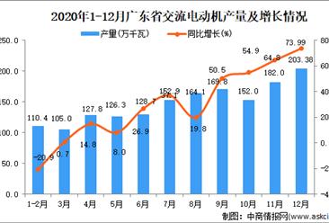 2020年12月广东省交流电动机数据统计分析