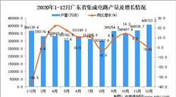 2020年12月广东省集成电路数据统计分析