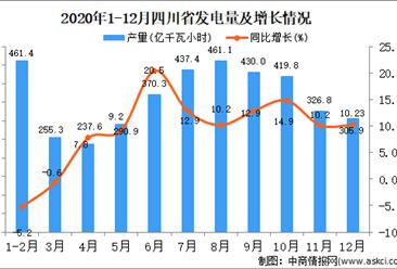 2020年12月四川省发电量据统计分析