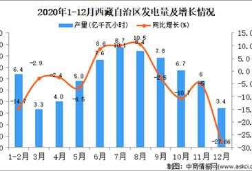 2020年12月西藏自治区发电量据统计分析