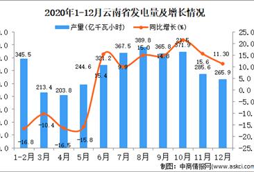 2020年12月云南省发电量据统计分析
