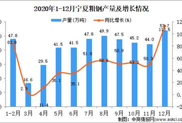 2020年12月宁夏回族自治区粗钢产量据统计分析