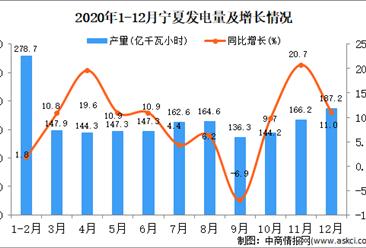 2020年12月宁夏回族自治区发电量据统计分析