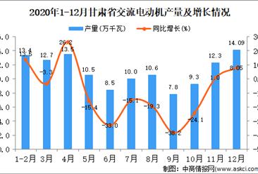 2020年12月甘肃省交流电动机产量据统计分析