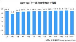 2021年1月中国电商物流运行指数110.3点 回落1.4个点