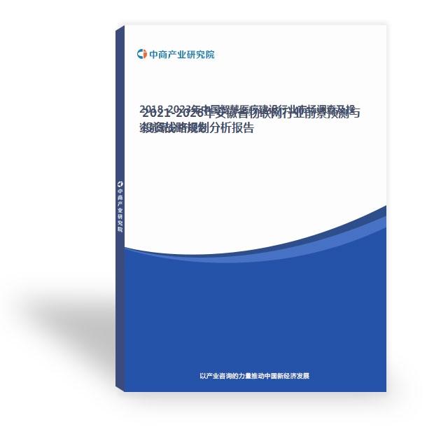 2021-2026年安徽省物联网行业前景预测与投资战略规划分析报告
