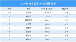 2020年河北各市GDP排行榜:唐山第一(图)