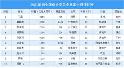 2021胡润全国政协委员企业家十强排行榜