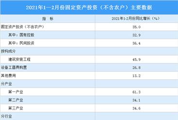 2021年1-2月份全国固定资产投资增长35.0%(附图表)