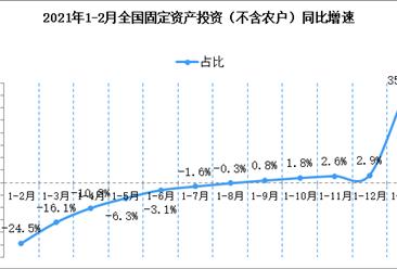 2021年1-2月份全国固定资产投资增长35.0% (附图表)