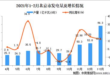 2021年1-2月北京市发电量数据统计分析