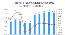 2021年1-2月江苏省合成洗涤剂产量数据统计分析