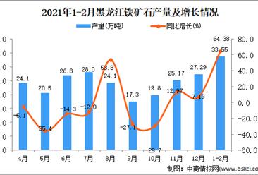 2021年1-2月黑龙江省铁矿石产量数据统计分析