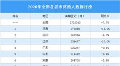 2020年全国各省市离婚人数排行榜:河南离婚人数最多(图)