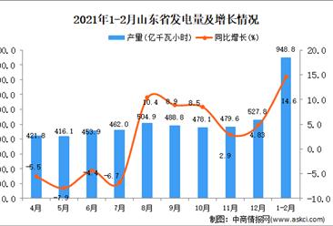 2021年1-2月山东省发电量数据统计分析