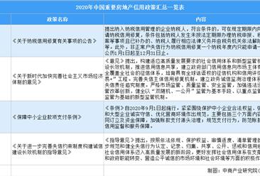2020年中国及地方重要房地产信用相关政策回顾:附政策汇总
