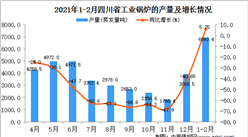 2021年1-2月四川省工业锅炉产量数据统计分析