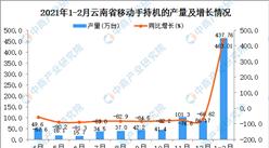 2021年1-2月云南省手机产量数据统计分析