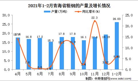 2021年1-2月青海省粗钢产量数据统计分析