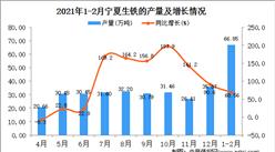 2021年1-2月宁夏生铁产量数据统计分析