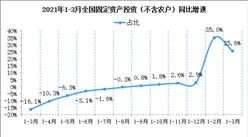 2021年1-3月份全国固定资产投资(不含农户)增长25.6%(附图表)