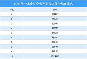 2021年一季度辽宁省产业投资前十城市排名(产业篇)