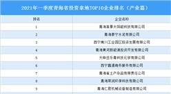 产业地产投资情报:2021年一季度青海省投资拿地TOP10企业排名(产业篇)