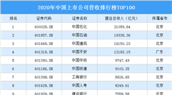 2020年中国上市公司营收排行榜TOP100(附榜单)