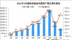 2021年3月湖南省集成电路产量数据统计分析