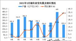 2021年3月湖北省发电量数据统计分析