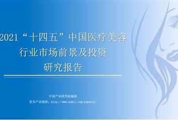 """中商产业研究院:《2021年""""十四五""""中国医疗美容行业市场前景及投资研究报告》发布"""