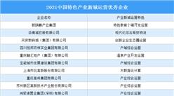 2021中国特色产业新城 运营优秀企业名单公布:华南城等10家企业入选(图)