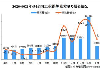 2021年全国各省市工业锅炉产量排行榜