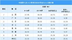 第七次人口普查各省市劳动力人口排行榜:广东位列第一 青海西藏位居前五(图)