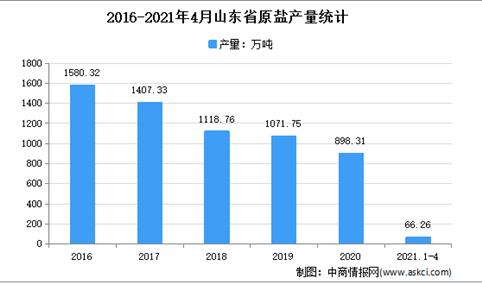 2021年山东原盐市场分析:4月累计产量66.26万吨