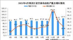 2021年4月黑龙江省交流电动机产量数据统计分析