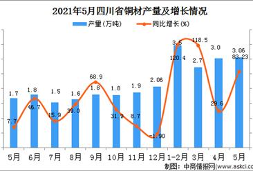 2021年5月四川铜材产量数据统计分析