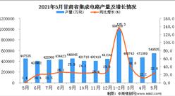 2021年5月甘肃省集成电路产量数据统计分析