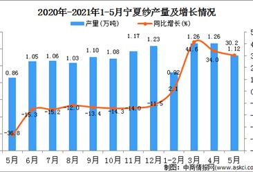 2021年5月宁夏纱产量数据统计分析