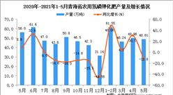 2021年5月青海省农用氮磷钾化肥产量数据统计分析
