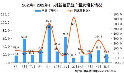 2021年5月新疆原盐产量数据统计分析