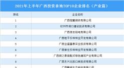 产业地产投资情报:2021年上半年广西投资拿地TOP10企业排名(产业篇)