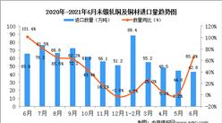 2021年6月中国未锻轧铜及铜材进口数据统计分析