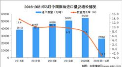 2021年1-6月中国原油进口数据统计分析