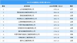 2021年中国煤炭行业企业排行榜TOP50(附榜单)